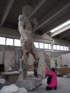 Tatoo Michelangelo David in Carrara