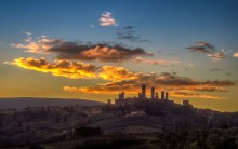first actraction in San Gimignano: its skyline